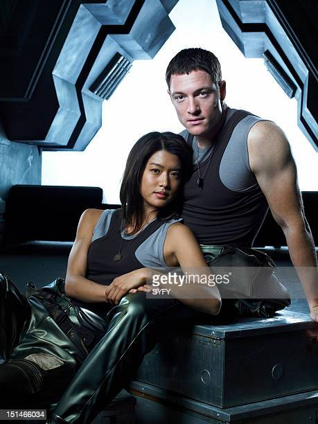 Grace Park as Number Eight Tahmoh Penikett as Captain Karl 'Helo' Agathon