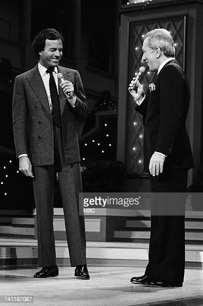 WASHINGTON 1983 Season 3 Pictured Julio Iglesias host Andy Williams Photo by Al Levine/NBC/NBCU Photo Bank