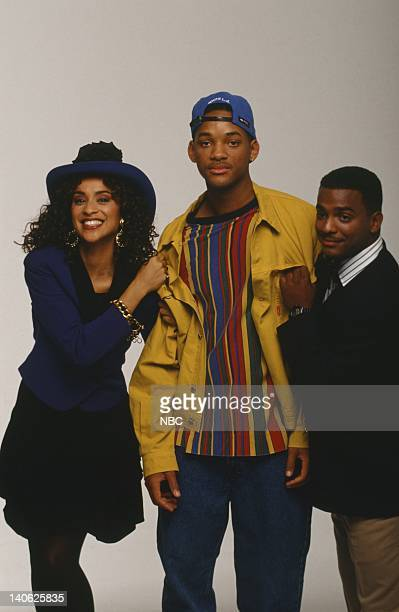Karyn Parsons as Hilary Banks Will Smith as William 'Will' Smith Alfonso Ribeiro as Carlton Banks Photo by Chris Haston/NBCU Photo Bank