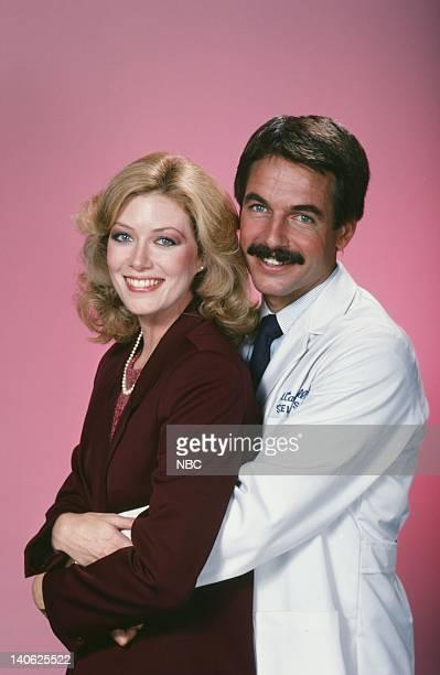 Nancy Stafford as Joan Halloran Mark Harmon as Doctor Robert Caldwell Photo by Frank Carroll/NBC/NBCU Photo Bank