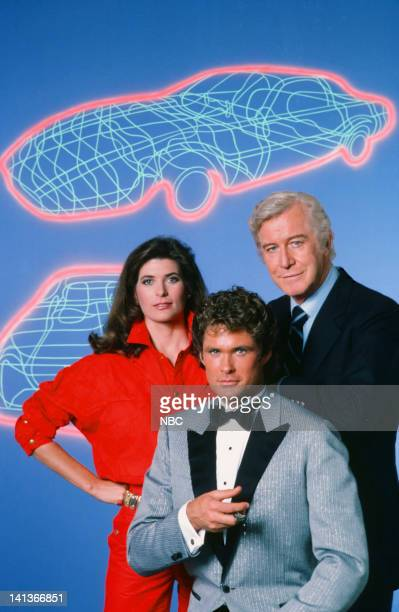 Patricia McPherson as Bonnie Barstow David Hasselhoff as Michael Knight Edward Mulhare as Devon Miles Photo by Gary Null/NBCU Photo Bank