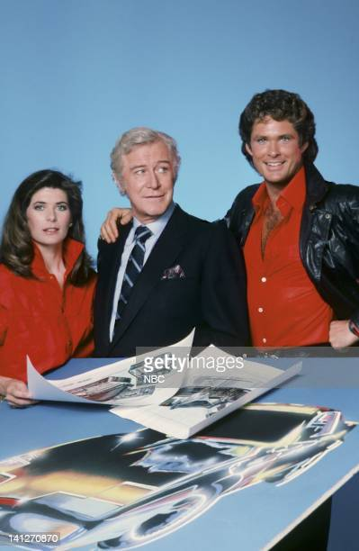 Patricia McPherson as Bonnie Barstow Edward Mulhare as Devon Miles David Hasselhoff as Michael Knight Photo by Gary Null/NBCU Photo Bank