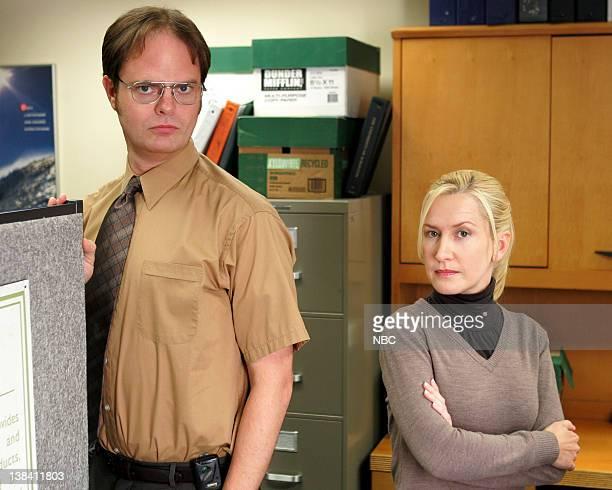 Season 3 -- Pictured: Rainn Wilson as Dwight Schrute, Angela Kinsey as Angela Martin