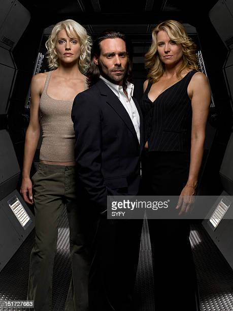 Tricia Helfer as Number Six James Callis as Dr Gaius Baltar Lucy Lawless as Number Three