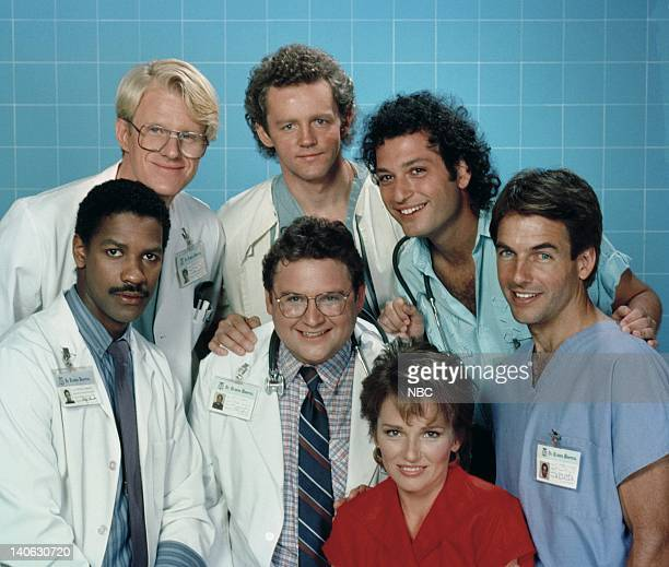 Season 4 -- Pictured: Ed Begley Jr. As Dr. Victor Ehrlich, David Morse as Dr. Jack 'Boomer' Morrison, Howie Mandel as Dr. Wayne Fiscus, Mark Harmon...