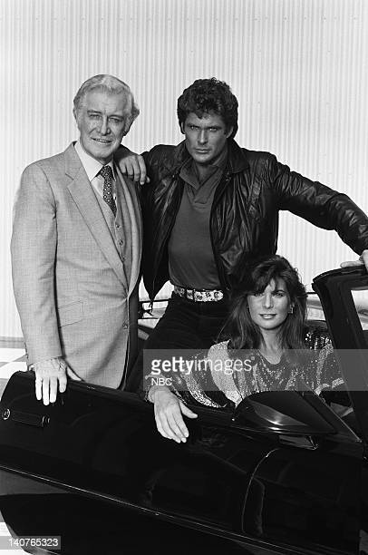 Edward Mulhare as Devon Miles David Hasselhoff as Michael Knight Patricia McPherson as Bonnie Barstow Photo by Gary Null/NBCU Photo Bank