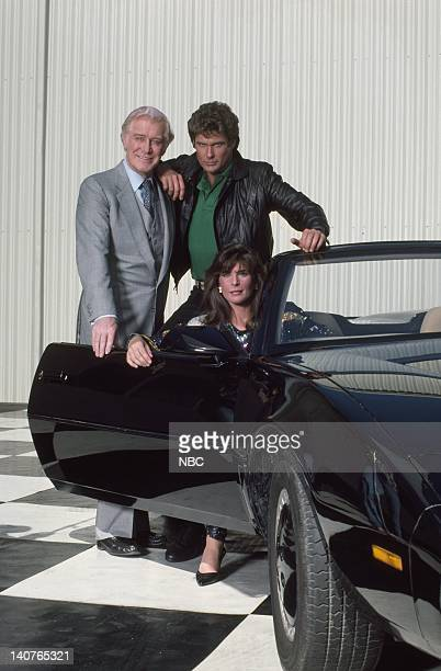 Edward Mulhare as Devon Miles David Hasselhoffas Michael Knight Patricia McPherson as Bonnie Barstow Photo by Gary Null/NBCU Photo Bank
