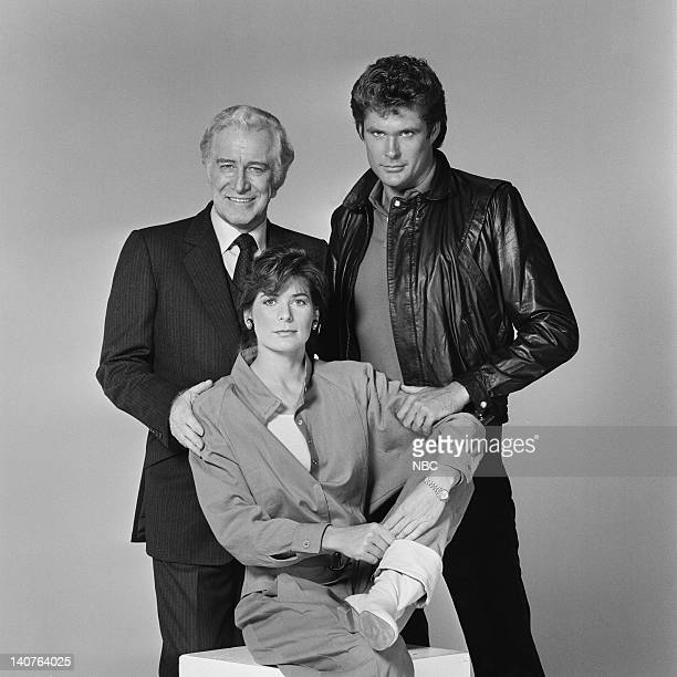 Edward Mulhare as Devon Miles Patricia McPherson as Bonnie Barstow David Hasselhoff as Michael Knight Photo by Gary Null/NBCU Photo Bank