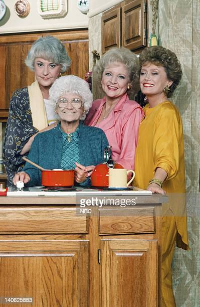 Estelle Getty as Sophia Petrillo Bea Arthur as Dorothy Petrillo Zbornak Betty White as Rose Nylund Rue McClanahan as Blanche Devereaux Photo by Paul...