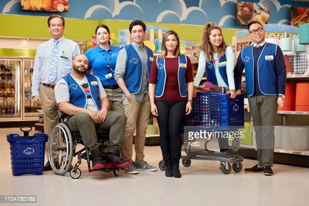 Pictured: Mark McKinney as Glenn, Colton Dunn as Garrett, Lauren Ash as Dina, Ben Feldman as Jonah, America Ferrera as Amy, Nichole Sakura as...