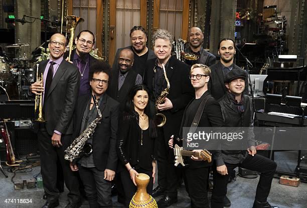 Season: 40 -- Pictured: The Saturday Night Live Band: Earl Gardner, Steve Turre, Alex Foster, Leon Pendarvis, James Genus, Valerie Naranjo, Lenny...
