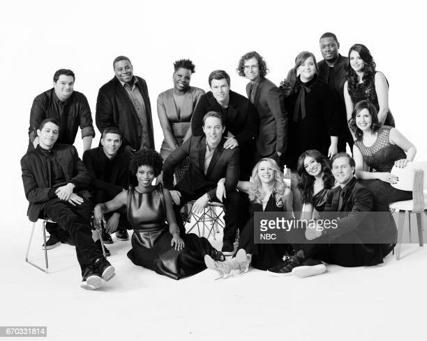 42 Pictured Bobby Moynihan Kenan Thompson Leslie Jones Colin Jost Kyle Mooney Aidy Bryant Michael Che Cecily Strong Pete Davidson Mikey Day Sasheer...