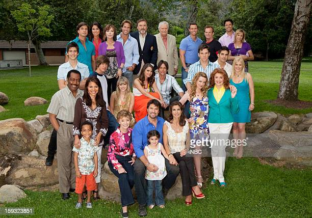 top row Bryan Dattilo as Lucas Horton Nadia Bjorlin as Chloe Horton Lauren Koslow as Kate Roberts Shawn Christian as Dr Daniel Jonas Joseph Mascolo...