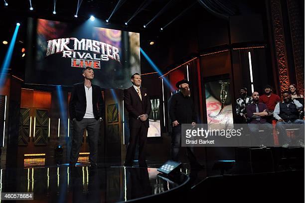 Season 5 finalists Erik Siuda Cleen Rock One and Jason Clay Dunn at 'Ink Master' Season Five Live Finale at Manhattan Center Grand Ballroom on...