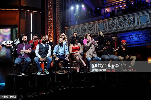 Season 5 'Ink Master' contestants at 'Ink Master' Season Five Live Finale at Manhattan Center Grand Ballroom on December 16 2014 in New York City