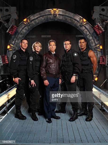 Season 5 -- Pictured: Ben Browder as Lt. Colonel Cameron Mitchell, Amanda Tapping as Maj. Samantha Carter, Beau Bridges as Maj. General Hank Landry,...