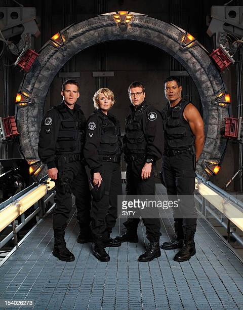 Season 5 -- Pictured: Ben Browder as Lt. Colonel Cameron Mitchell, Amanda Tapping as Maj. Samantha Carter, Michael Shanks as Dr. Daniel Jackson,...