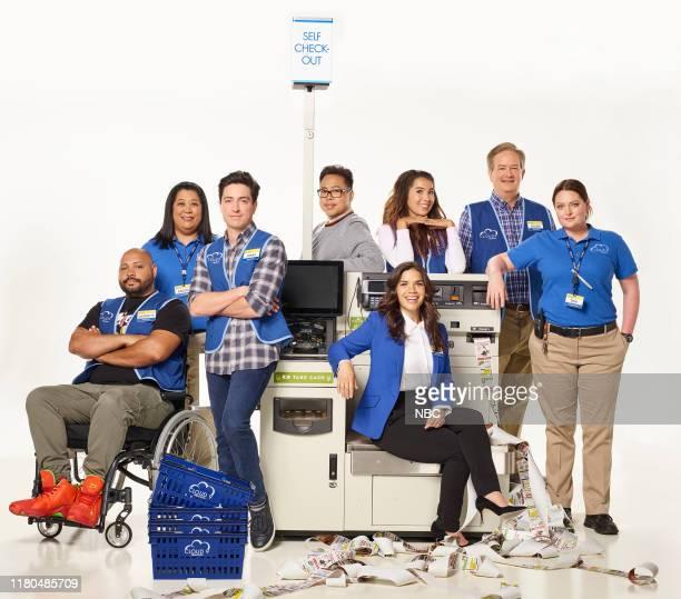 Pictured: Colton Dunn as Garrett, Kaliko Kauahu as Sandra, Ben Feldman as Jonah, Nico Santos as Mateo, America Ferrera as Amy, Nichole Sakura as...