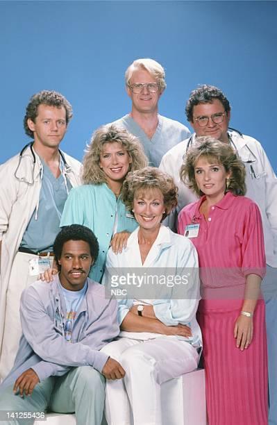 Season 5 -- Pictured: David Morse as Dr. Jack Morrison, Jennifer Savidge as nurse Lucy Papandrao, Ed Begley Jr. As Dr. Victor Ehrlich, Stephen Furst...