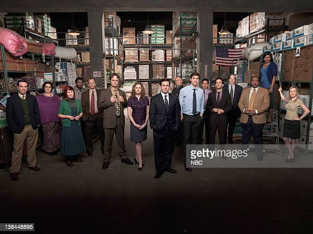 Season 5 -- Pictured: Ed Helms as Andy Bernard, Phyllis Smith as Phyllis Lapin, Kate Flannery as Meredith Palmer, Craig Robinson as Darryl Philbin,...