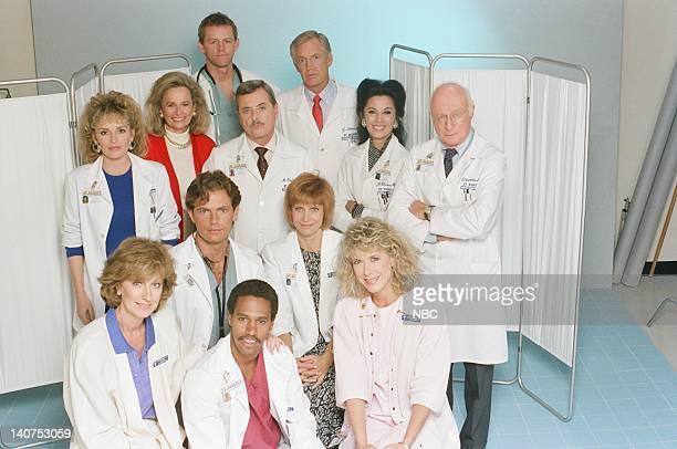 Season 6 -- Pictured: Christina Pickles as nurse Helen Rosenthal, Eric Laneuville as Luther Hawkins, Jennifer Savidge as Nurse Lucy Papandrao Bruce...