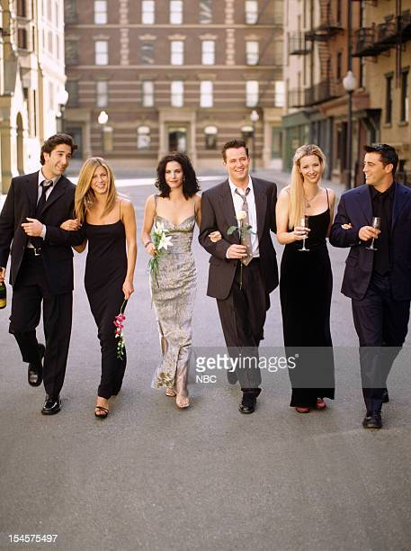 Season 6 -- Pictured: David Schwimmer as Ross Geller, Jennifer Aniston as Rachel Green, Courteney Cox as Monica Geller, Matthew Perry as Chandler...