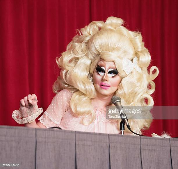 Season 7 cast member Trixie Mattel speaks at a panel discussion at 2016 RuPaul's DragCon on May 08 2016 in Los Angeles California