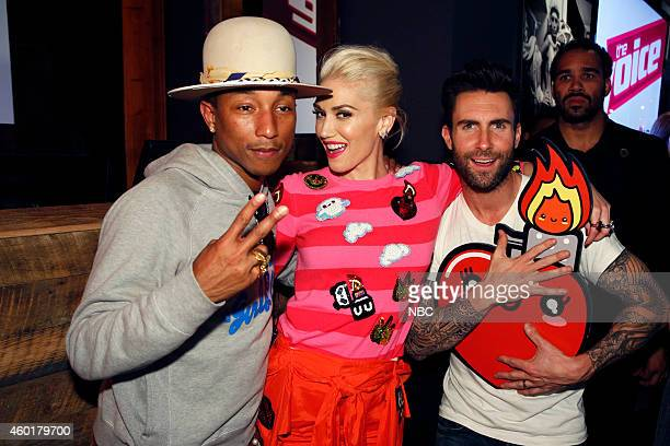 THE VOICE Season 7 Coaches Concert at Hyde Pictured Pharrell Williams Gwen Stefani Adam Levine