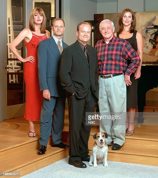 Jane Leeves as Daphne Moon David Hyde Pierce as Dr Niles Crane Kelsey Grammer as Dr Frasier Crane Moose as Eddie John Mahoney as Martin Crane Peri...