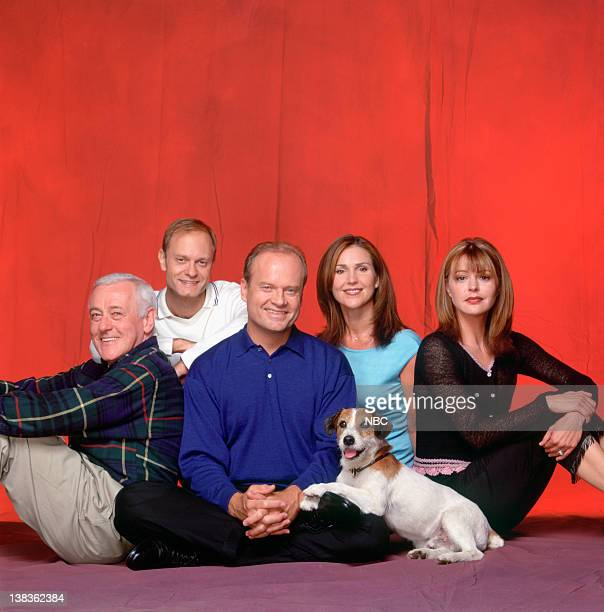 John Mahoney as Martin Crane David Hyde Pierce as Dr Niles Crane Kelsey Grammer as Dr Frasier Crane Moose as Eddie Peri Gilpin as Roz Doyle Jane...