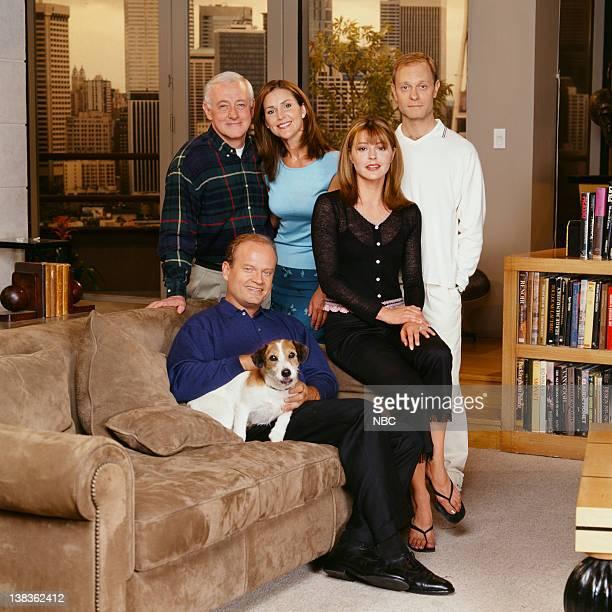 John Mahoney as Martin Crane Peri Gilpin as Roz Doyle Jane Leeves as Daphne Moon David Hyde Pierce as Doctor Niles Crane Moose as Eddie Kelsey...