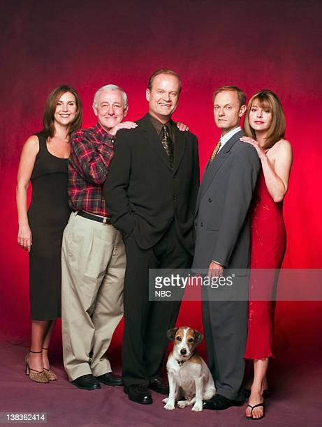 Peri Gilpin as Roz Doyle John Mahoney as Martin Crane Kelsey Grammer as Dr Frasier Crane Moose as Eddie David Hyde Pierce as Dr Niles Crane Jane...