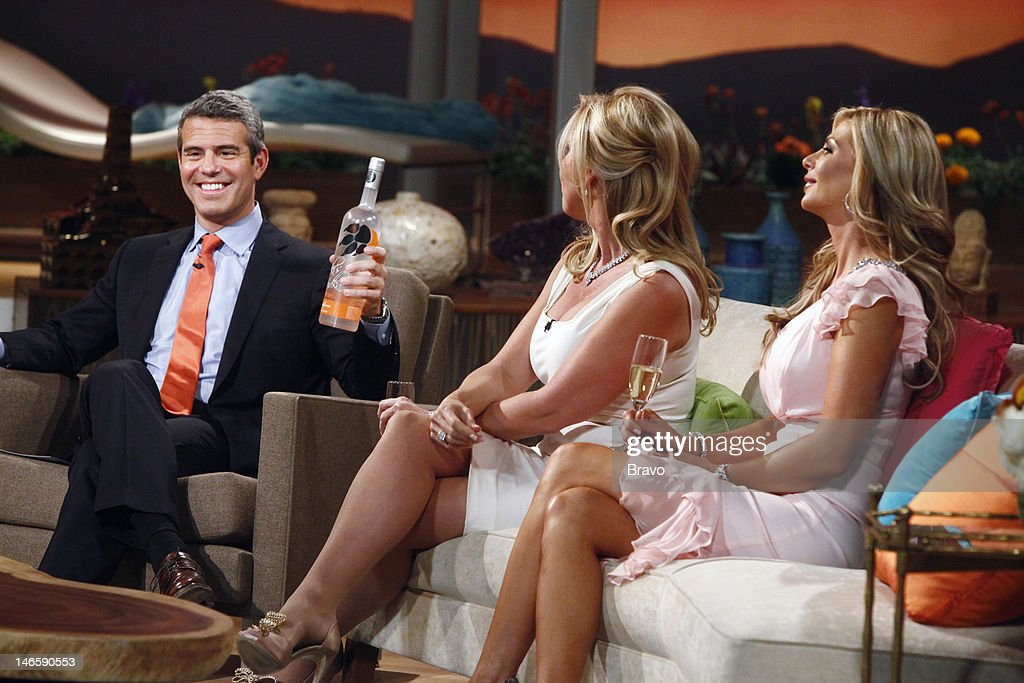 COUNTY -- 'Season 7 Reunion' -- Pictured: (l-r) Andy Cohen, Vicki Gunvalson, Alexis Bellino --