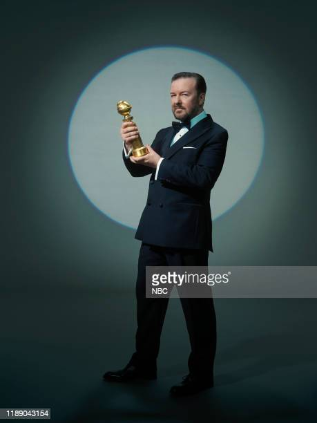 Season: 77 -- Pictured -- Ricky Gervais, Host--