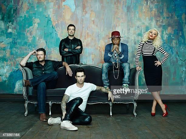 8 Pictured Blake Shelton Carson Daly Adam Levine Pharrell Williams Christina Aguilera