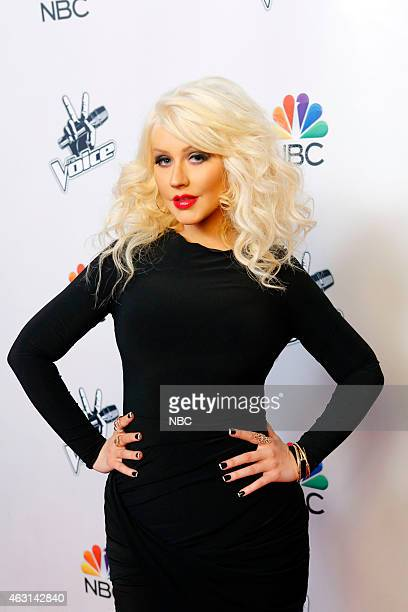THE VOICE Season 8 Press Junket Pictured Christina Aguilera
