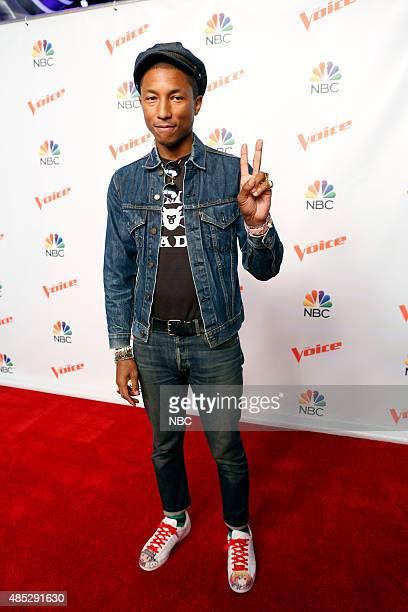 THE VOICE Season 9 Press Junket Pictured Pharrell Williams