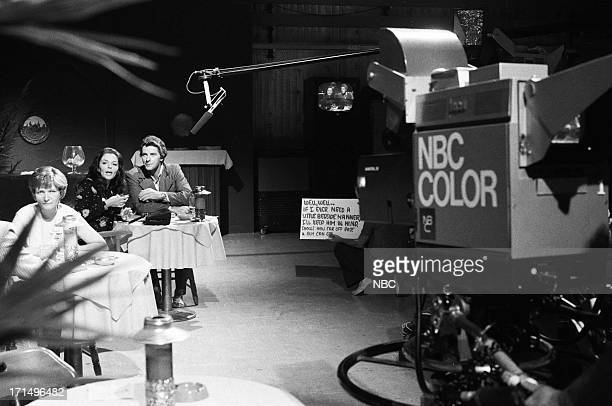 Season 9 Rehearsals -- Pictured: Susan Seaforth Hayes as Julie Banning, Peter Brown as Dr. Greg Peters during rehearsal on July 3, 1974 --