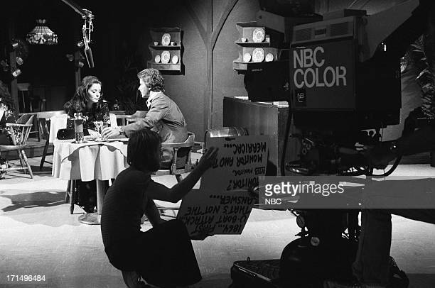 Susan Seaforth Hayes as Julie Banning Peter Brown as Dr Greg Peters during rehearsal on July 3 1974