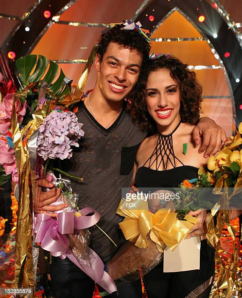 DANCE Season 9 winners Chehon WespiTschopp and Eliana Girard on FOX's So You Think You Can Dance Season 9 Live Finale on September 18 2012 in...