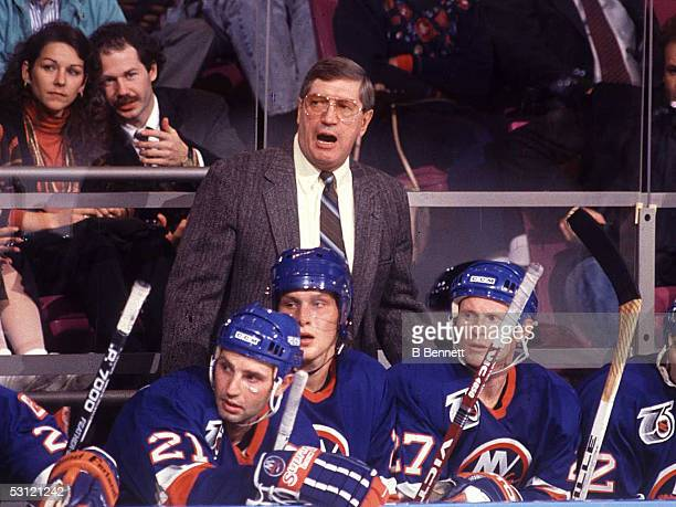 Al Arbour former coach of the New York Islander Al directed his team to four consecutive Stanley Cups between 198083