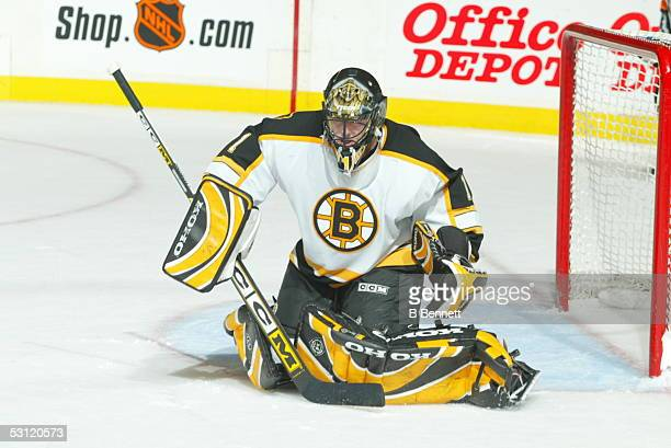 Boston Bruins at New York Rangers December 22 2003 And Player Andrew Raycroft