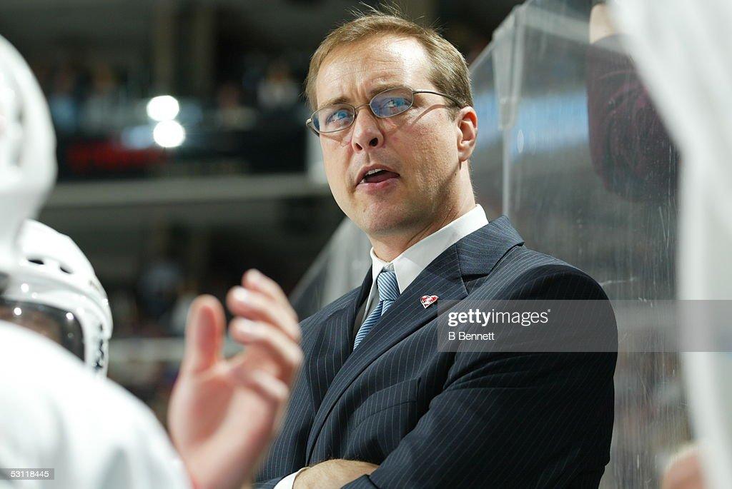 Carolina Hurricanes at Philadelphia Flyers And Player Paul Maurice.