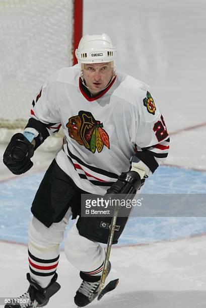 Chicago Blackhawks at Edmonton Oilers November 18 2003 And Player Alexander Karpovtsev