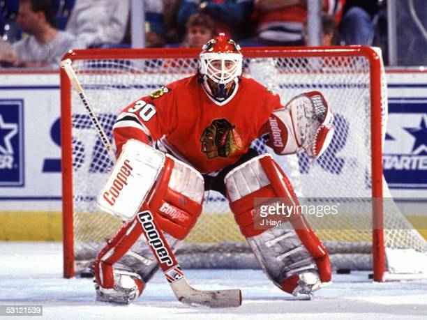 Chicago Blackhawks goalie Ed Belfour