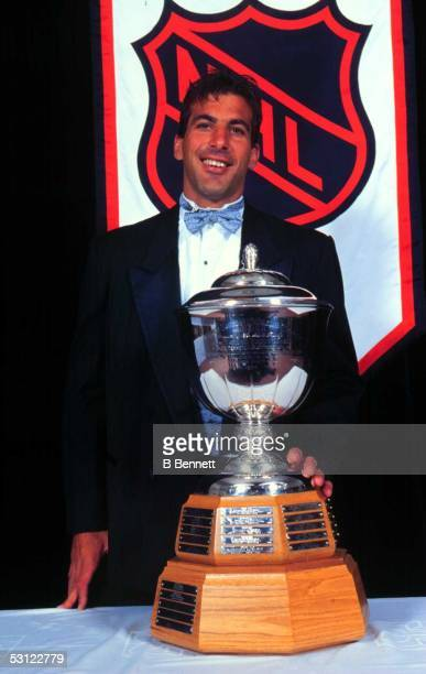 Chris Chelios of the Chicago Blackhawks wins the James Norris Memorial Trophy as the league's best defenseman
