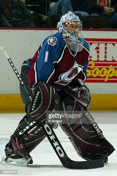 Detroit Red Wings at Colorado Avalanche February 5 2004 And Player David Aebischer