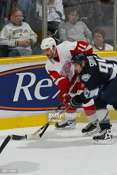 Detroit Redwings at Edmonton Oilers November 1 2003 And Player Mathieu Dandenault
