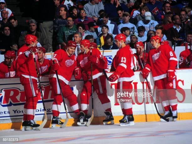 Detroit's Russian 5: Fetisov, Fedorov, Konstantinov, Kozlov and Larionov.