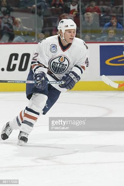 Edmonton Oilers vs Ottawa Senators at the Corel Centre in Ottawa on Thursday November 6 and Player Tony Salmelainen